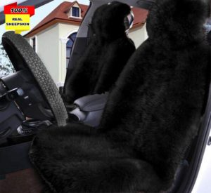 Aegis Cover F009SND Sand Faux Fur Sheepskin Wrap Seat Cover